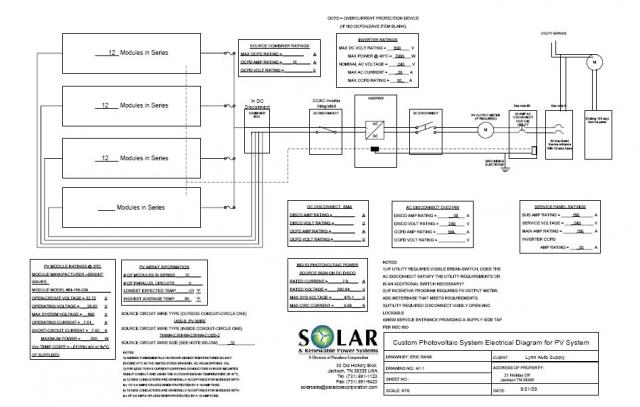 electrical schematic of 7 2 kwh grid tie solar system a solar system project