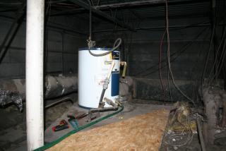 Old standard water heater