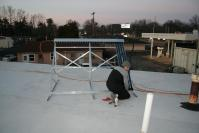 Four Tubes Installed: Jacob tighening the fourth tube. Getting dark thats it for today.