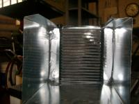 Solar Heat Exchanger: View of air flowing twards the exchanger core